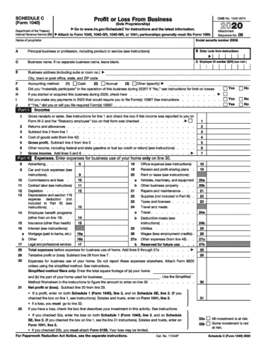 Use a schedule C to file taxes if self employed